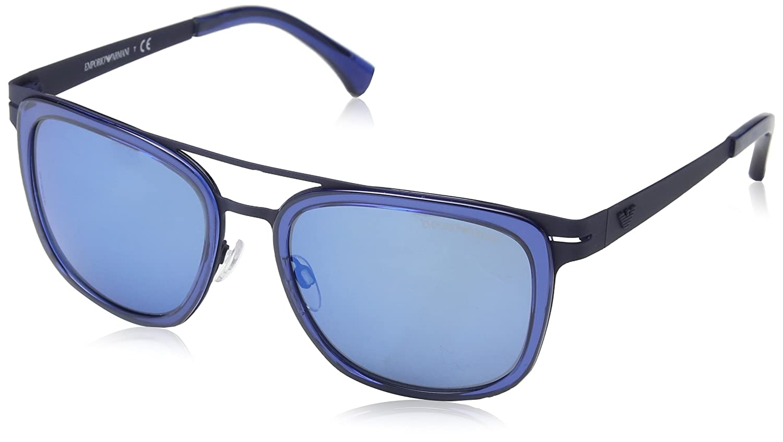 6b015318a0797 Emporio Armani EA 2030 Men s Sunglasses Dark Blue Rubber 56 at Amazon Men s  Clothing store