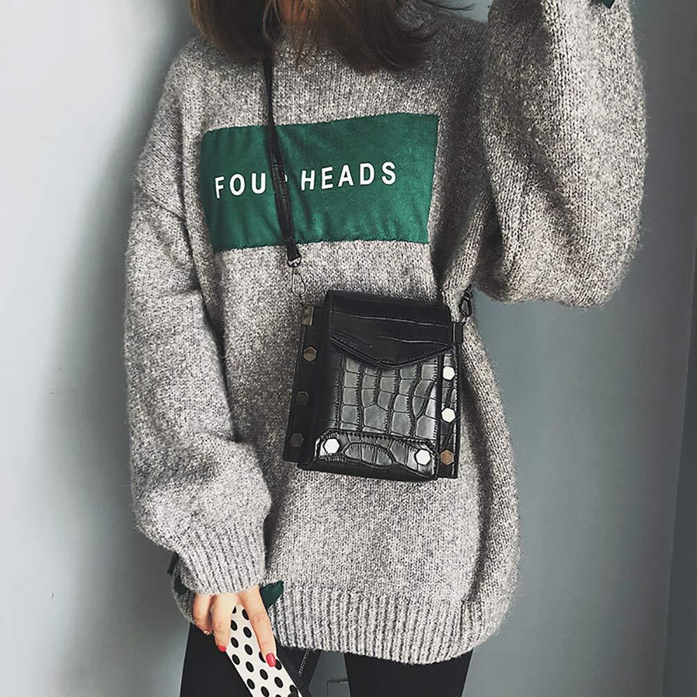 NANIH Home Frauen Frauen Frauen PU Steinmuster Mini Square Bag Damen Casual Haspe Gezeiten Ins Schulter Umhängetasche (Farbe   braun) B07MZR7LS2 Messenger-Bags 1a5672