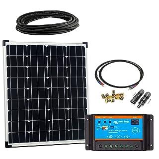 Offgridtec 2650 - Kit solar de arranque básico, 80w, 12v cable controlador de carga de paneles solares, 00
