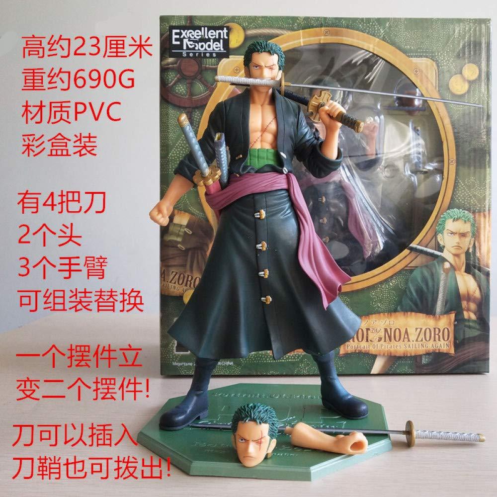 WYN123 Anime Modell One Piece Ruffy SGoldn Qiaoba Puppe Anime Puppe Dekoration Kuchen Dekoration Hand Modell, kann Kopf Hand SGoldn Boxed ändern B07PYVHCF6 Statuen Lebhaft und liebenswert | Erste Klasse in seiner Klasse