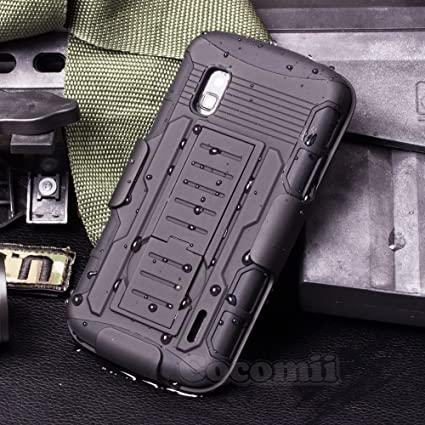 Cocomii Robot Armor LG Nexus 4 Case New [Heavy Duty] Premium Belt Clip Holster Kickstand Shockproof Hard Bumper Shell [Military Defender] Full Body ...