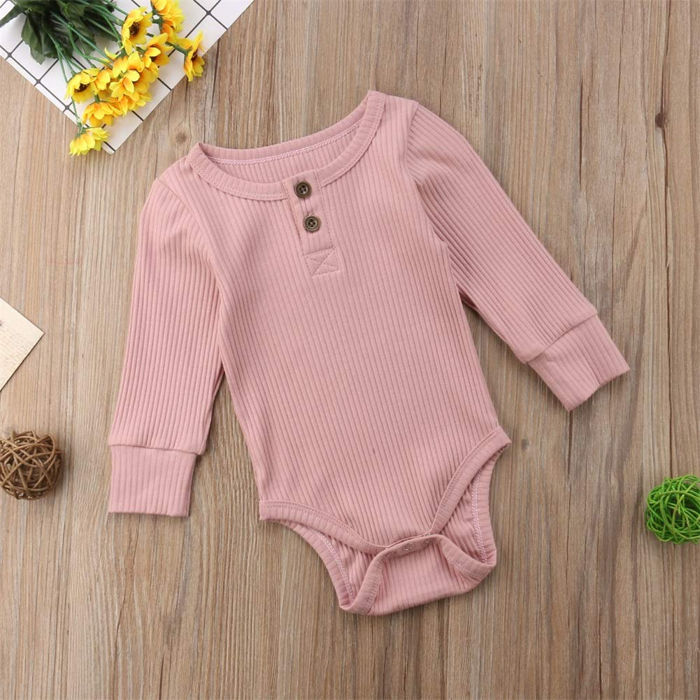 Emmababy Newbown Baby Boys Girls Knitted Sweather Rompers Sleepwear Long Sleeves Pajamas Fall Winter Bodysuit Pink by Emmababy (Image #5)