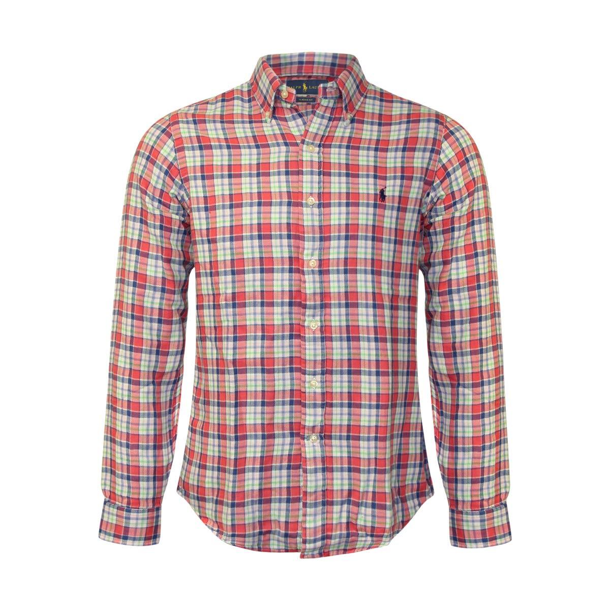Polo Ralph Lauren Men's Lightweight Classic Fit Flannel Shirt Long Sleeve Plaid Shirts
