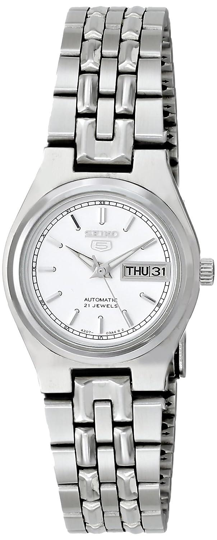 0b33f6c0f Amazon.com: Seiko Women's SYM787K Seiko 5 Automatic White Dial Stainless  Steel Watch: Seiko: Watches