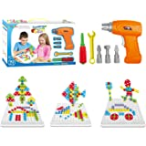 Educational Design and Drill toy Building toys set - 193 Pcs with board game STEM Learning Construction creative playset for 3, 4, 5+ Year Old Boys & Girls Best Toy Gift for Kids Ages 3yr – 6yr & up