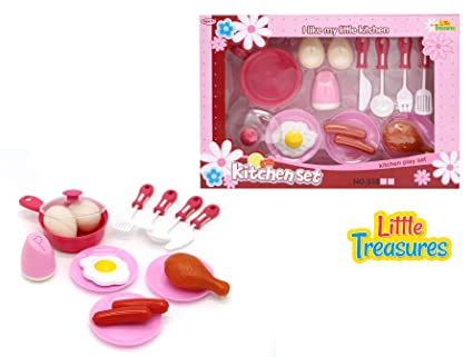 amazon com little treasures breakfast brunch small kitchen set rh amazon com