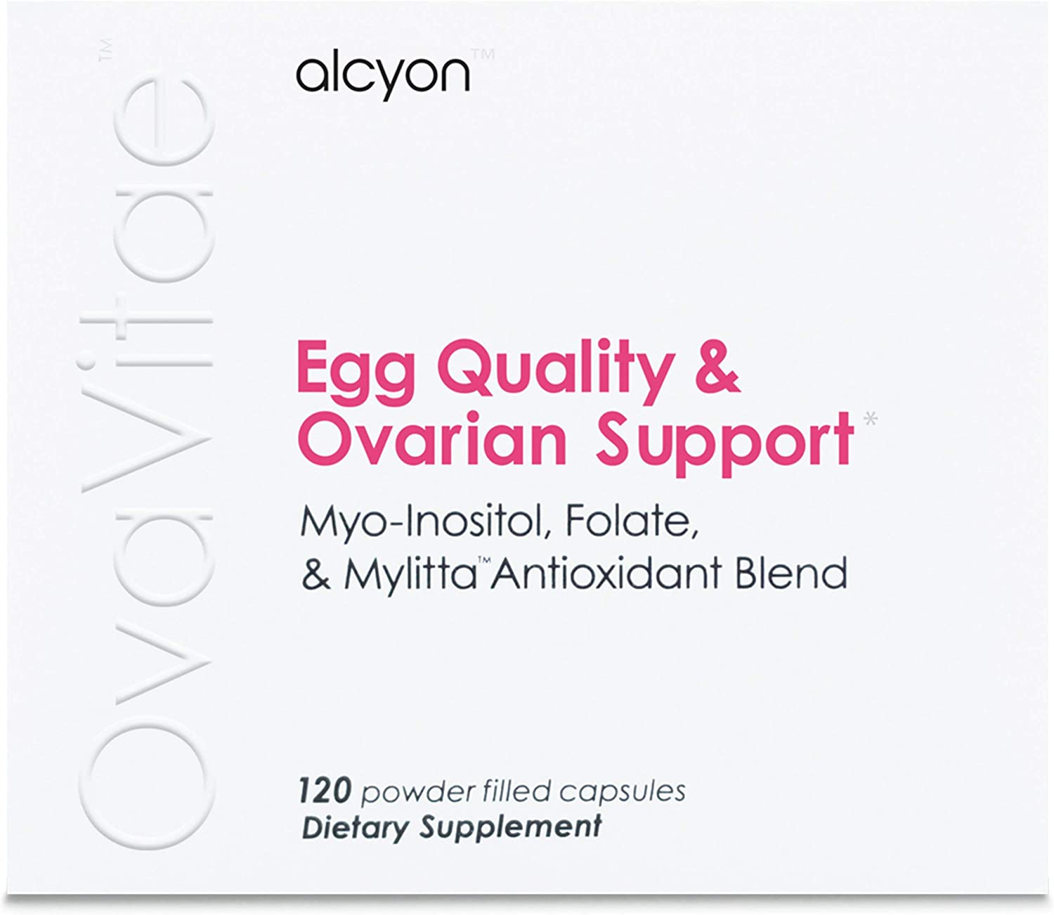 OvaVitae Fertility Supplement Pure Myo-Inositol and Natural Folate to Improve Egg Quality, Support Ovulation and Regulate Cycles – Conceive Naturally 120 vegetarian capsules – pills
