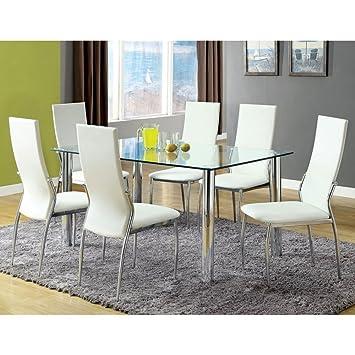 chandler 7 piece dining set finish white