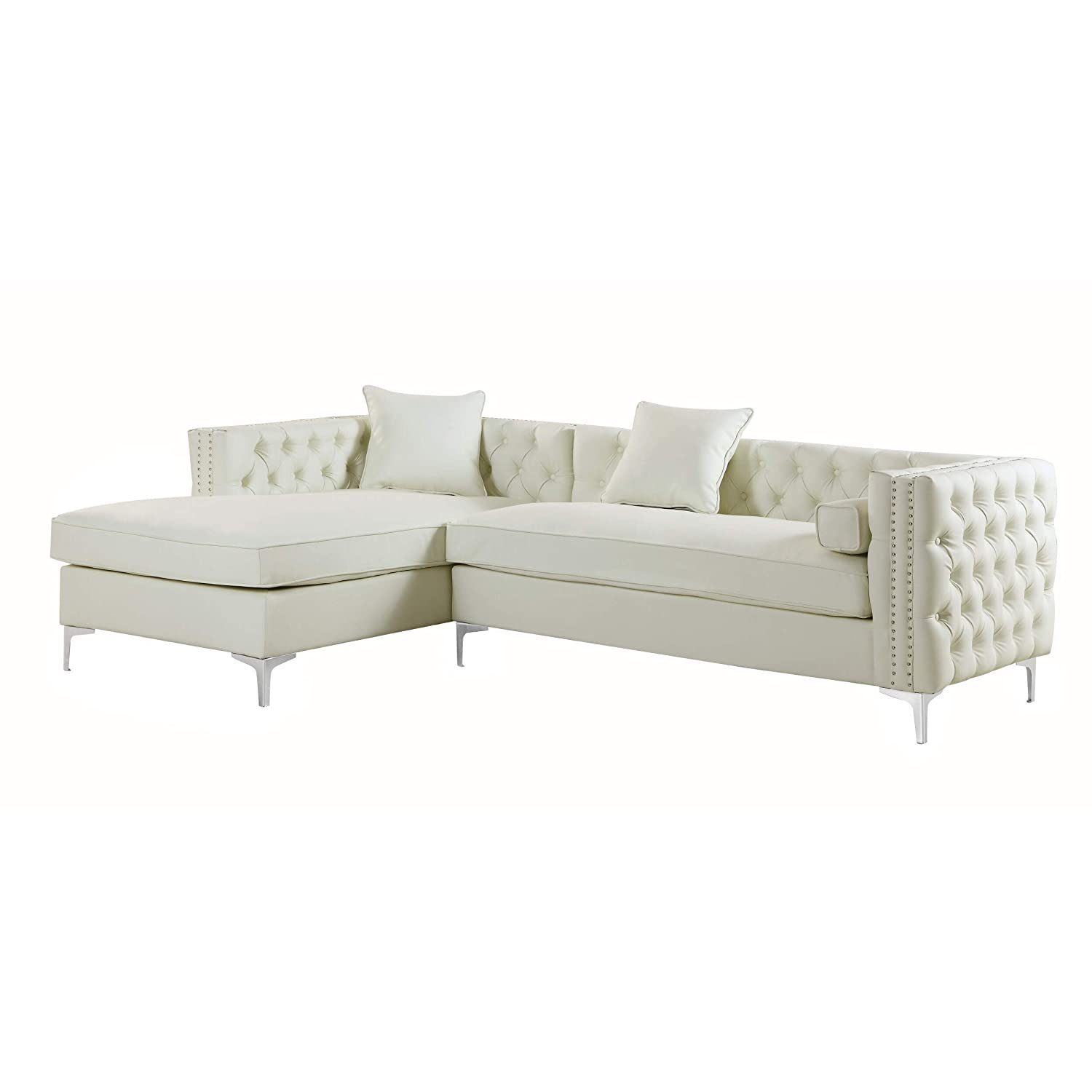 Amazon.com: Chic Home Monet Left Hand Facing Sectional Sofa ...