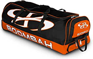 """Boombah Brute Rolling Baseball/Softball Bat Bag - 35"""" x 15"""" x 12-1/2"""" - Holds 4 Bats and Room for Gear - Wheeled Bag"""
