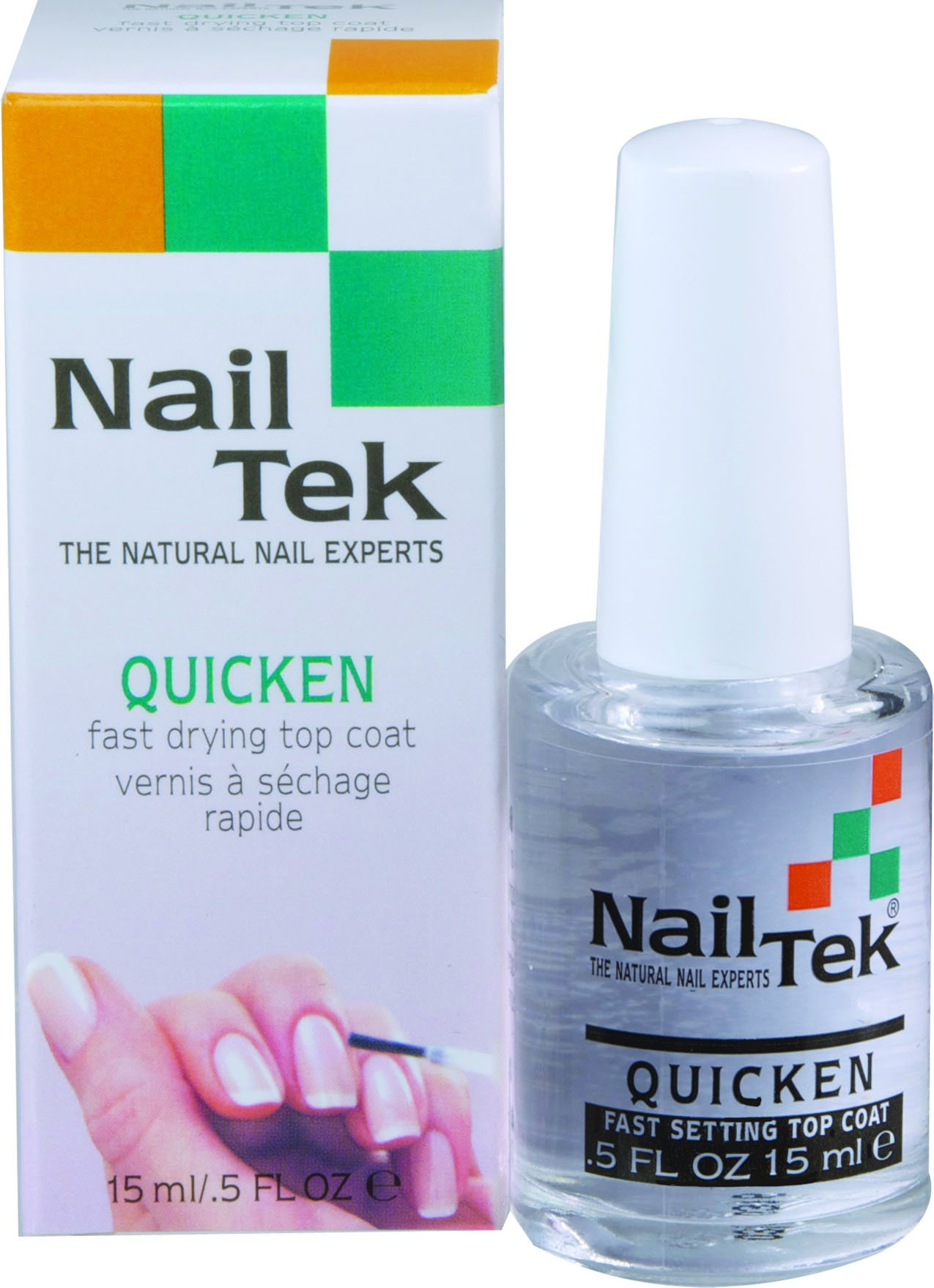 Nailtek Quicken Fast Drying Top Coat, 0.5 Fluid Ounce