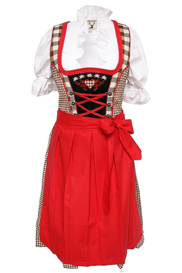 Diseño de Alpes, 3 piezas. Ropa-Set - traje típico, blusa ...