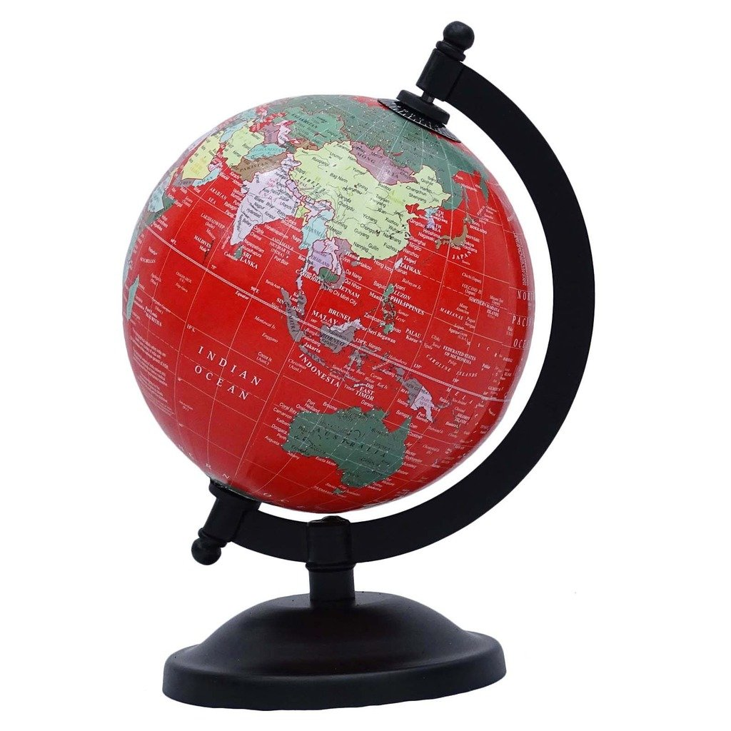 CRAFTSTRIBE Globes with Stand World Earth Ocean Rotating School Table Decor 8'' inches