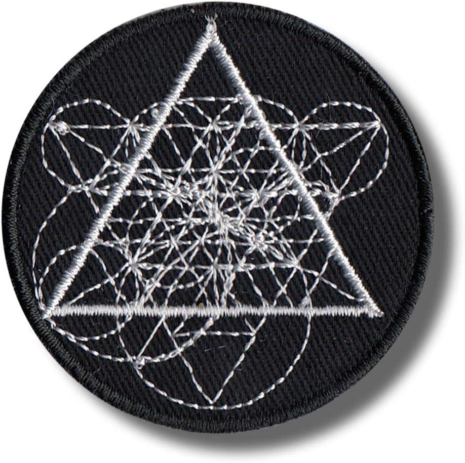 Parche bordado de geometría sagrada (5 x 5 cm): Amazon.es: Juguetes y juegos