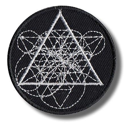 Parche bordado de geometría sagrada (5 x 5 cm): Amazon.es ...