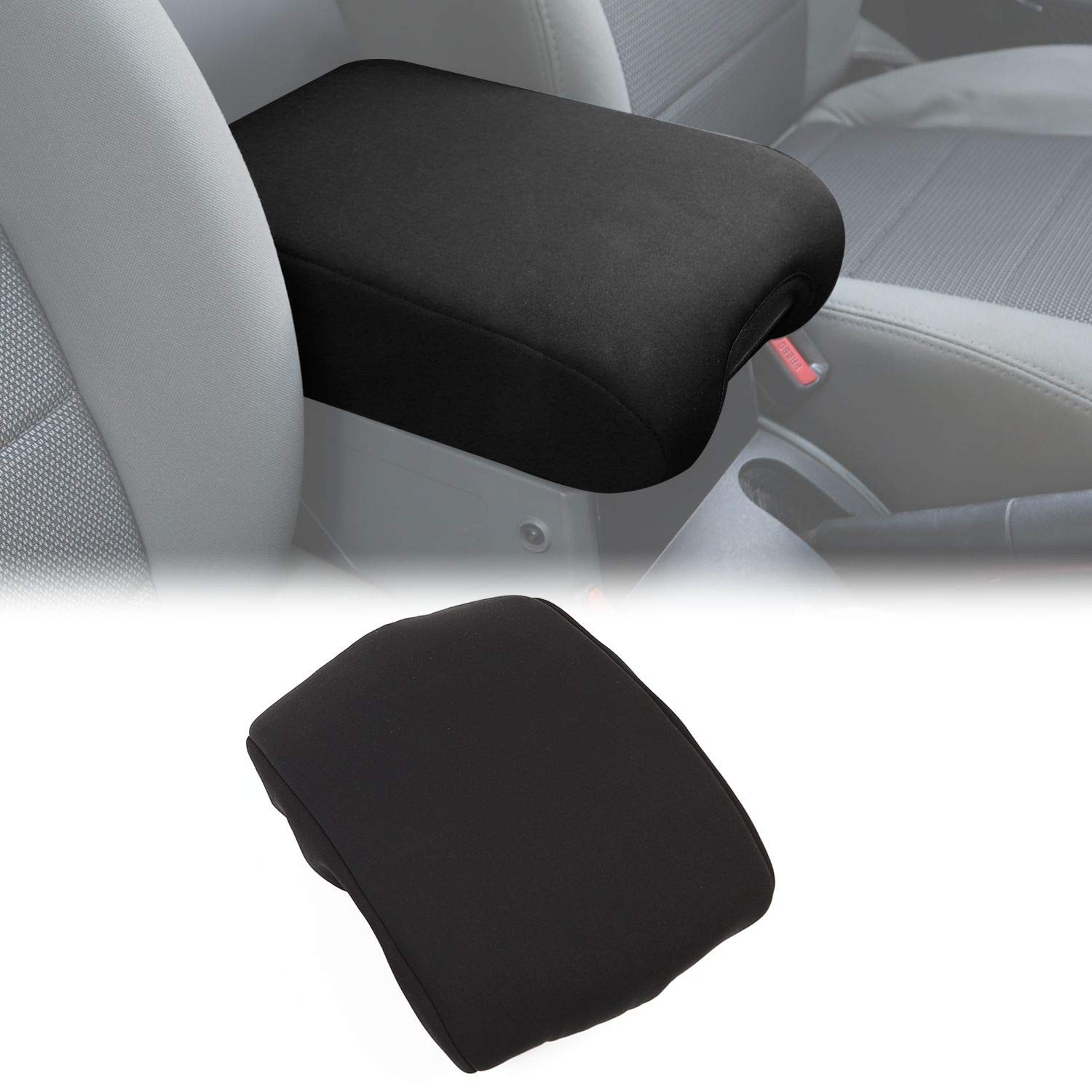for JK Center Console Cover Pad Armrest Cover Cushion for 2007-2010 Jeep Wrangler JK JKU Sahara Sport Rubicon X /& Unlimited