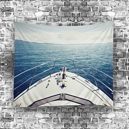 sytx – tapiz para salón o dormitorio Decor, diseño de barcos de la cubierta impreso