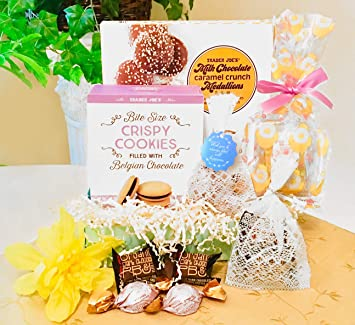 Mother's Day or Birthday Cookies and Tea Gourmet Gift Basket with