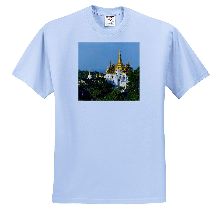 ts/_312596 Myanmar Myanmar Pagoda on Sagaing Hill 3dRose Danita Delimont Adult T-Shirt XL Mandalay
