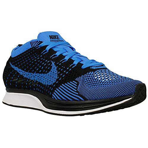 8809a36b93f89 Nike Flyknit Racer Running Shoes Black Photo Blue 526628-001 (M7-W8.5)   Amazon.ca  Shoes   Handbags