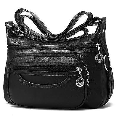 36a1af41e6d8 Amazon.com  COCIFER Medium Crossbody Bag for Women Multi Pockets Shoulder  Bags Ladies Leather Purses  Shoes