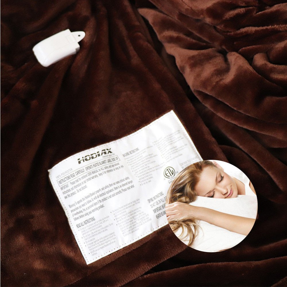Electric Heated Mattress Cover Bed Temperature Timing Control KING