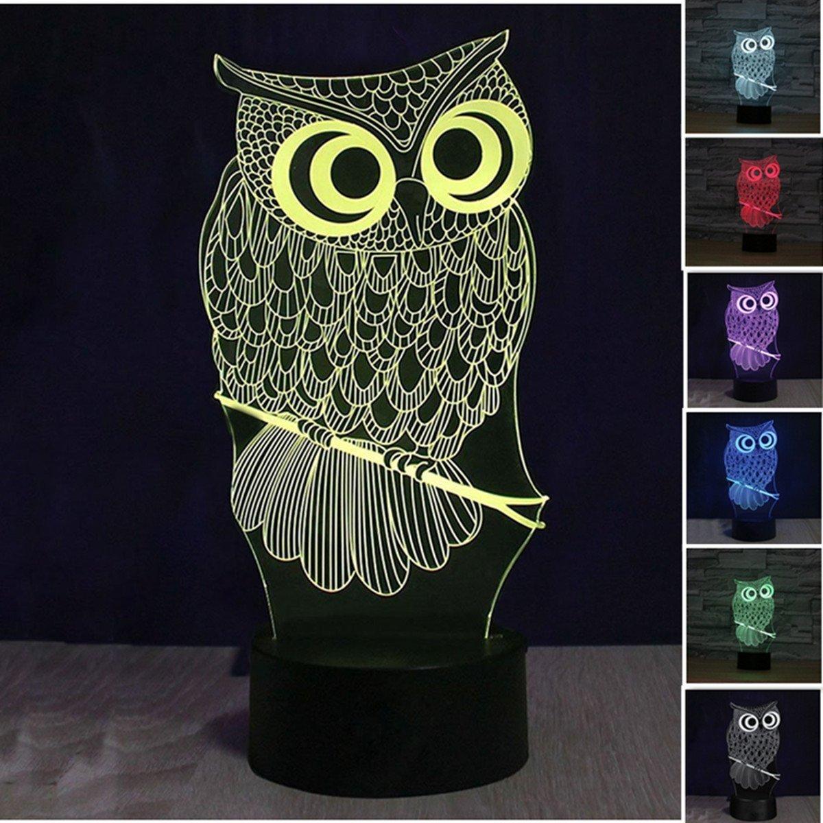 3D Illusion Tischlampe, KINGCOO 7 Farben 3D Effekt Touch Nachtlicht Schreibtischlampe Dekoratives Licht fü r Kinder Weihnachtsgeschenk (Zä hne)