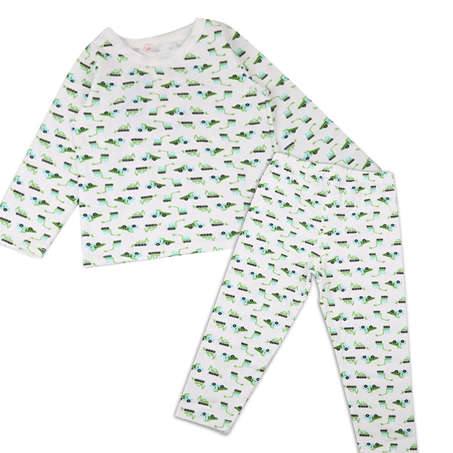 new SUNVENO Little Boys¡¯Cotton Longsleeve Top and Pants Color Green Crane save more