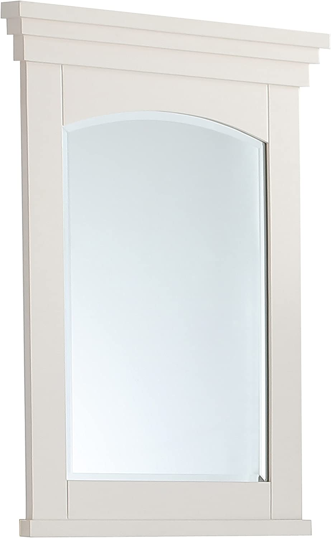 SIMPLIHOME Elise 24 inch x 34 inch Bath Vanity Décor Mirror in Off White