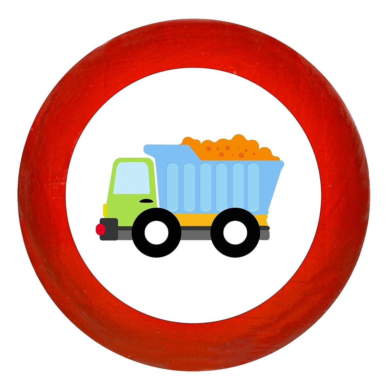 KommodengriffLKW gelb Holz Buche Kinder Kinderzimmer 1 St/ück Fahrzeuge Transportfahrzeuge Traum Kind