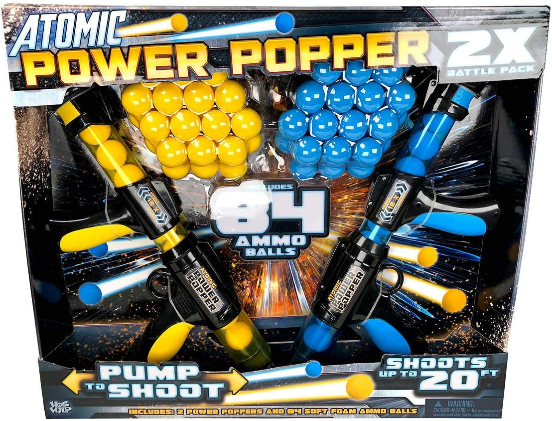 atomic power COS3143333 Popper con 84 Bolas de Espuma, 2 Unidades