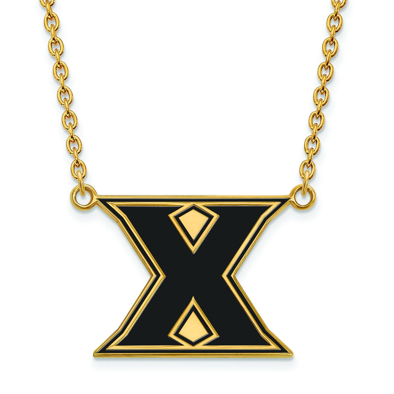 Xavier Large ( 3 / 4インチ)エナメルペンダントW /ネックレス(ゴールドメッキ)   B01JAOKPJ2