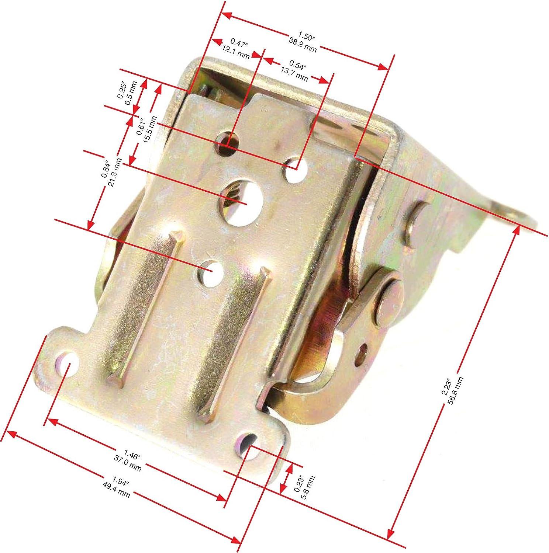 4 Hinge Set Hardware Included Locking Hinge Fold Away Tables and Desks Tech Team Folding Table Leg Hinge