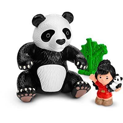 Fisher-Price Little People Giant Panda Doll: Toys & Games