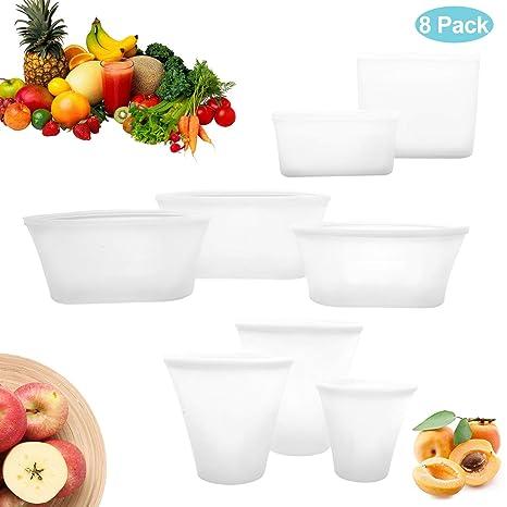 Amazon.com: 8 bolsas de almacenamiento de alimentos ...