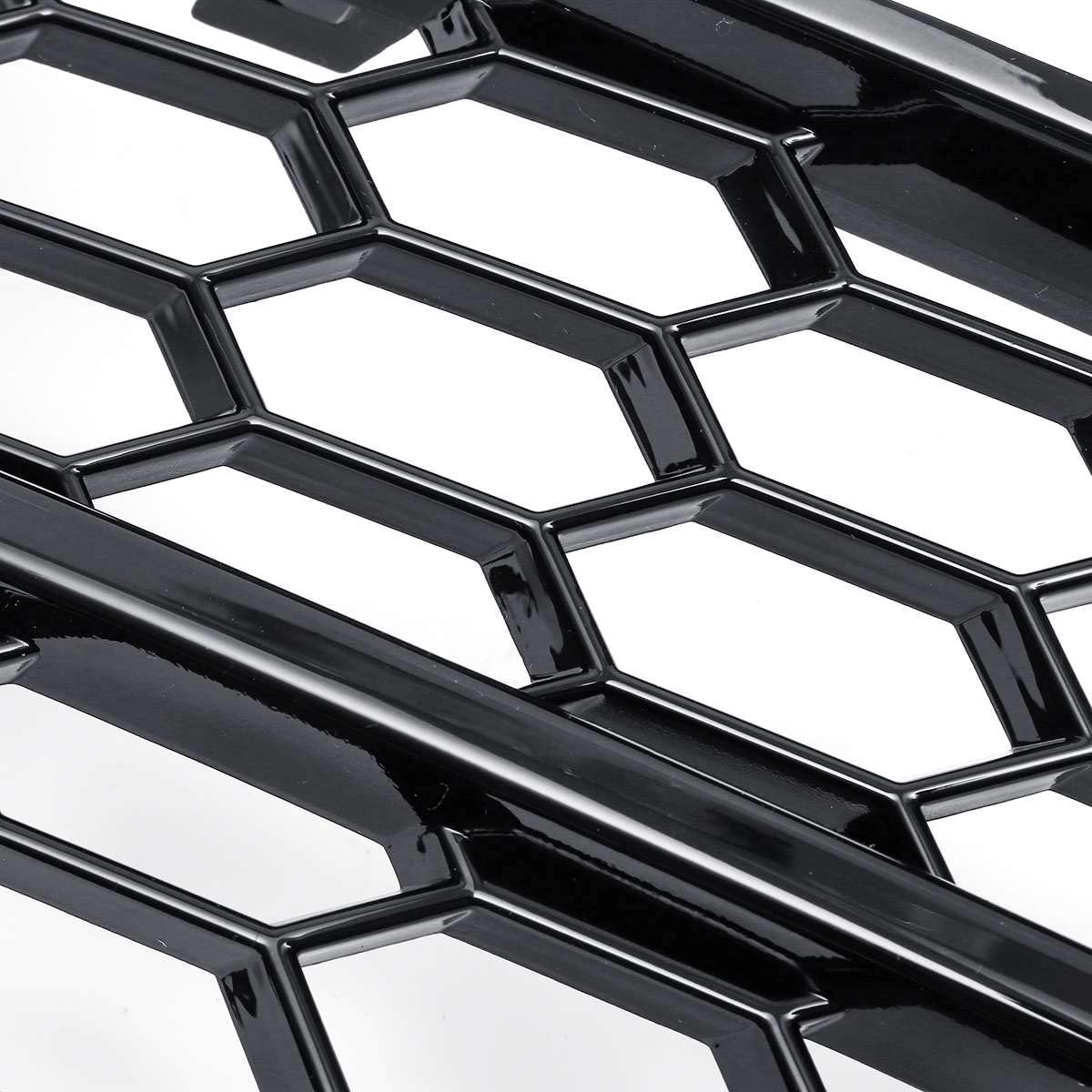 Domilay Mesh Honeycomb Fog Light Grilles Hex Front Bumper Lower Fog Light Lamp Grilles Replacement for Audi A5 2008-2011 Chrome