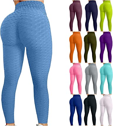 Amazon Com Tik Tok Leggings Para Mujer Levantamiento De Glúteos Barriga Control Yoga Pantalones Anti Celulitis Cintura Alta Entrenamiento Polainas Botín Medias Clothing
