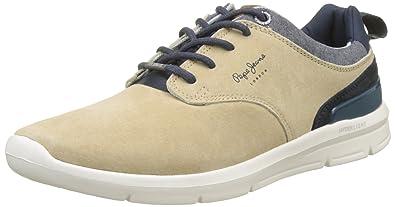 London, Sneakers Basses Homme, Bleu (Chambray), 45 (EU)Pepe Jeans London