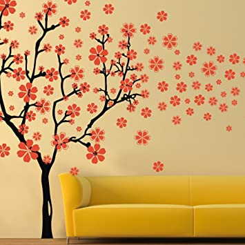 Amazon.com: Beautiful Flower Wall Decal Vinyl Trees Wall Quotes Tree ...