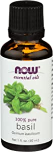 NOW Basil Oil 100% Pure - 1 fl oz (Pack of 2)