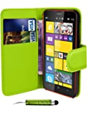 Leather Flip Wallet Slim Case Cover Pouch With Card Holder For Nokia Lumia Phones And Stylus Pen
