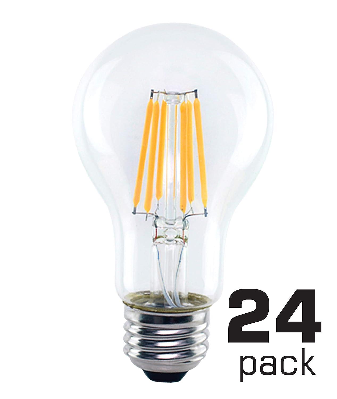 ホームLEDフィラメント電球 A19 24 Pack OB-BLF-A19D26-827C-24-PACK B07GN6M78X 8-Watt 24 Pack