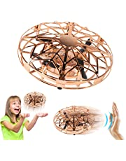 ZeroPlusOne® Hand Operated Drones for Kids or Adults - Air Magic Scoot Hands Free Mini Drone Helicopter, Easy Indoor UFO Flying Ball Drone Toys for Boys or Girls (Gold)