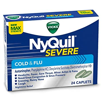 amazon com nyquil severe cold flu caplets 24 count health and