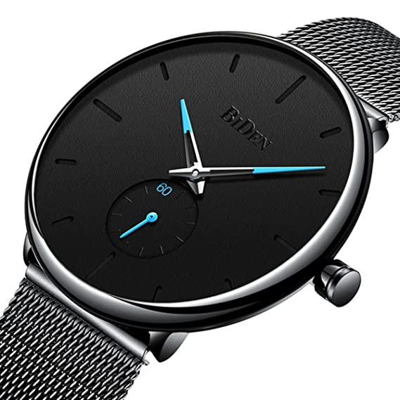 Reloj de pulsera para hombre, ultra delgado, minimalista, moderno, lujoso, para hombres y mujeres, estilo casual, ...