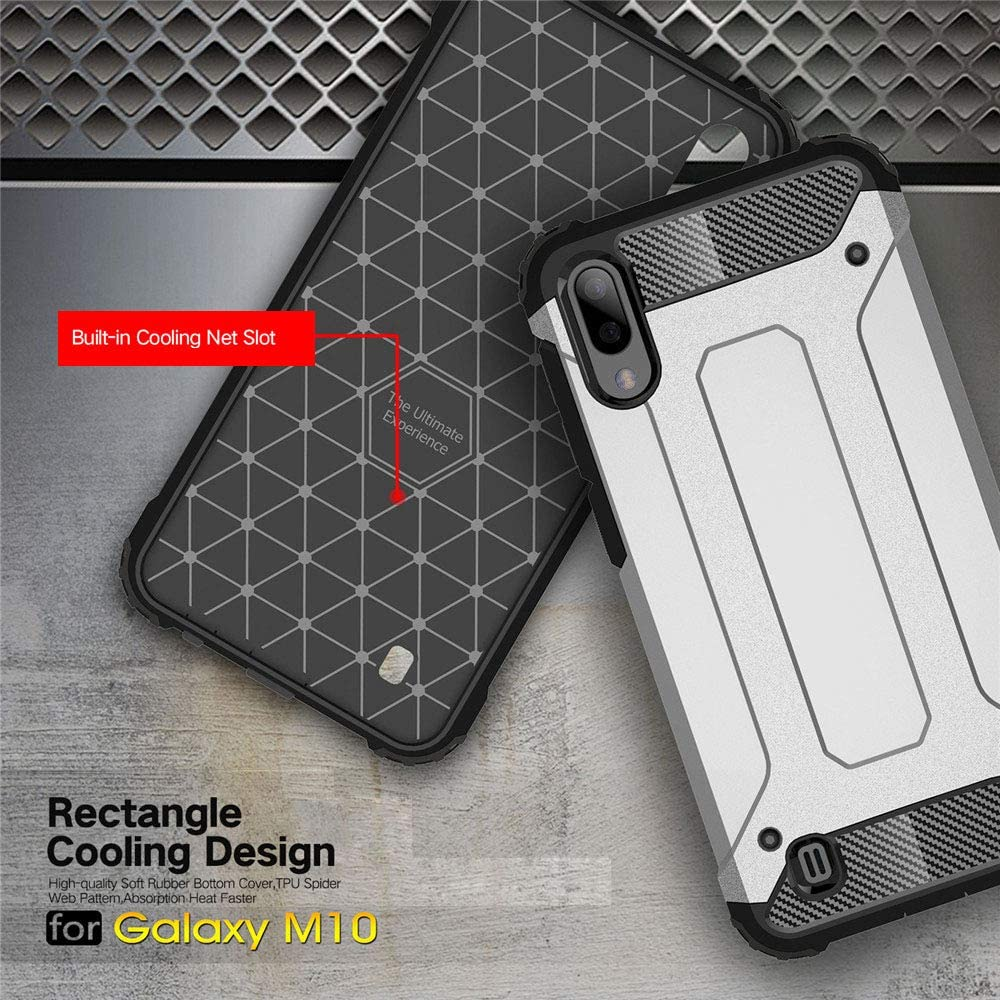 LAGUI Funda y 2 Cristal Templado Compatible para Moto G7 Power, Doble Capa Profesional Anti-Colisión Cover: Amazon.es: Electrónica