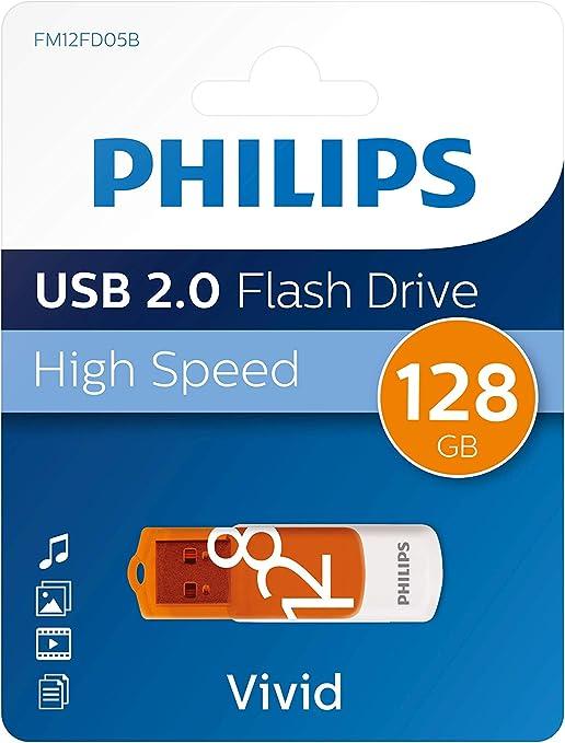 Philips Pendrive USB 2.0 128 GB - Vivid Edition (Orange)
