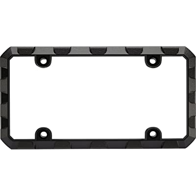 Custom Frames 92572 Black Heavy Duty Metal License Plate Frame (Truck Tuff): Automotive