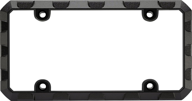 Ford Built Tough Heavy Duty Black Chrome Metal License Plate Frame