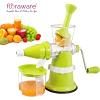 Floraware Modern Fruit & Vegetable Juicer with Steel Handle, Green